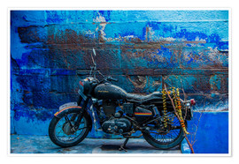 Premium poster  Motorcycle parked on the street of Jodhpur - Laura Grier