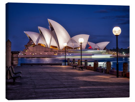 Canvas print  A boat passes through the Sydney Opera House - Jim Nix