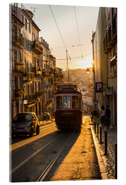 Acrylic print  Tram in Lisbon, Portugal - Alex Treadway