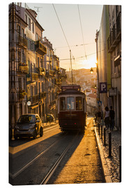 Canvas  Tram in Lisbon, Portugal - Alex Treadway