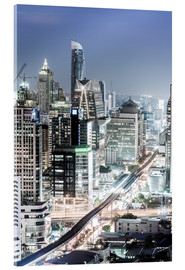 Acrylic print  Bangkok skyline showing the skytrain - Alex Robinson