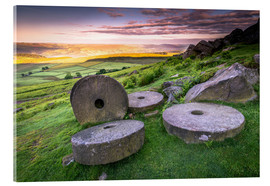 Acrylic print  Stanage Edge Millstones at sunrise - Andrew Sproule