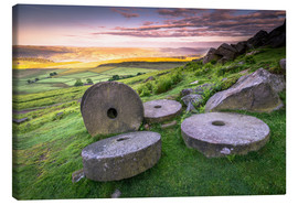 Canvas print  Stanage Edge Millstones at sunrise - Andrew Sproule