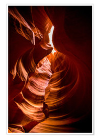 Premium poster Sandstone sculpted walls, Upper Antelope Canyon