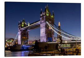 Aluminium print  Tower Bridge and The Shard at dusk - Charles Bowman