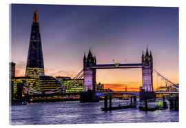 Acrylic print  The Shard with Tower Bridge and Thames - Charles Bowman