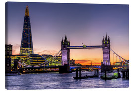 Canvas print  The Shard with Tower Bridge and Thames - Charles Bowman