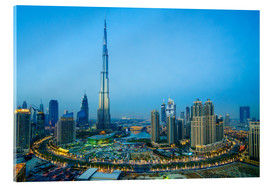 Acrylic print  Burj Khalifa and Downtown Dubai at dusk - Fraser Hall