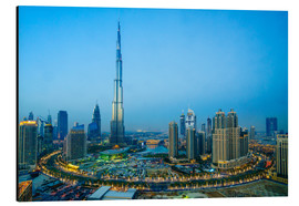 Alu-Dibond  Burj Khalifa and Downtown Dubai at dusk - Fraser Hall