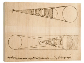 Wood print  lighting mechanism - Leonardo da Vinci