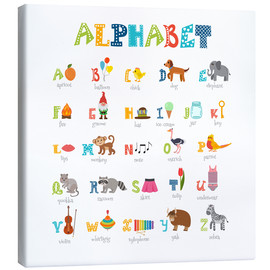 Canvas print  Cheerful alphabet (English) - Typobox