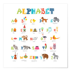 Premium poster Cheerful alphabet (English)
