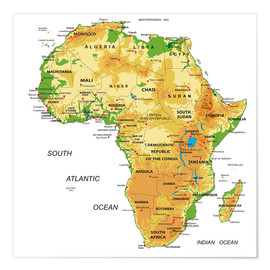 Africa - Topographic Map