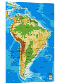 Forex  South America - Topographic Map