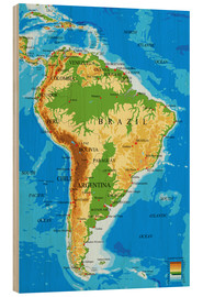 Wood  South America - Topographic Map
