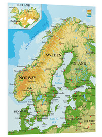 Forex  Scandinavia - Topographic Map