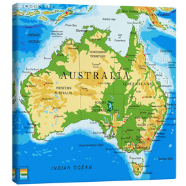 Canvas print  Australia - Topographic Map