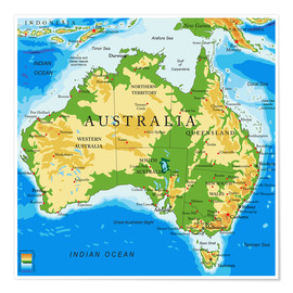 Australia - Topographic Map