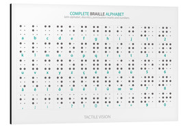 Aluminium print  Braille - Alphabet (English, not actual braille) - Typobox