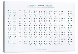 Canvas print  Braille - Alphabet (English, not actual braille) - Typobox
