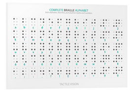 Foam board print  Braille - Alphabet (English, not actual braille) - Typobox