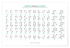 Premium poster  Braille - Alphabet (English, not actual braille) - Typobox