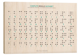 Wood print  Braille - Alphabet (English, not actual braille) - Typobox