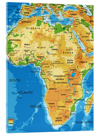 Acrylic glass  Africa - Topographic Map