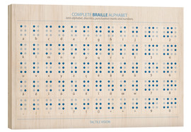 Wood print  Braille - Alphabet - Typobox