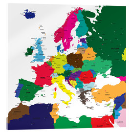 Acrylic glass  Europe - Political Map
