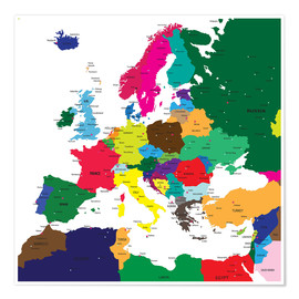 Europe - Political Map