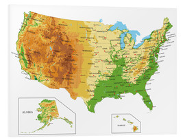 Forex  USA - Topographic Map
