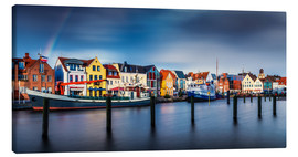 Canvas print  Colorful Husum Port World - Andreas Kossmann