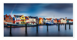 Premium poster  Colorful Husum Port World - Andreas Kossmann