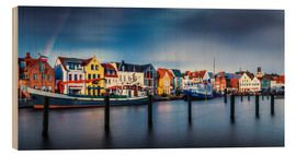 Wood  Colorful Husum Port World - Andreas Kossmann