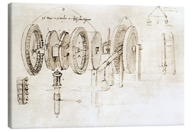 Canvas  Mechanical design - Leonardo da Vinci