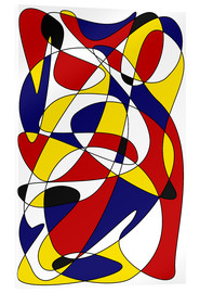 Acrylic print  MONDRIAN AND GAUSS - THE USUAL DESIGNERS