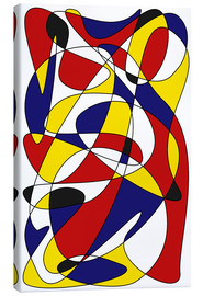 Canvas print  Mondrian and Gauss - THE USUAL DESIGNERS