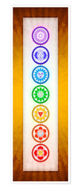Poster The Seven Chakras Series 6 - Colour Variant Golden Yellow