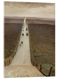 Acrylic print  The Road from Arras to Bapaume - Christopher Nevinson