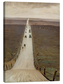 Canvas  The Road from Arras to Bapaume - Christopher Nevinson