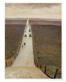 Premium poster  The Road from Arras to Bapaume - Christopher Nevinson
