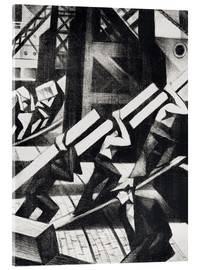 Acrylic print  loading the ship - Christopher Nevinson