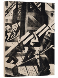 Wood print  loading the ship - Christopher Nevinson