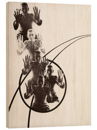 Wood print  The Law of Series - László Moholy-Nagy