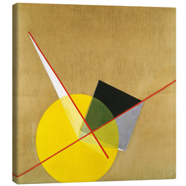 Canvas print  Yellow circle - László Moholy-Nagy
