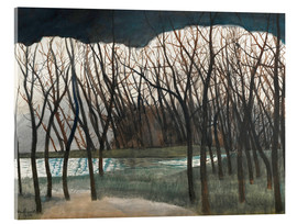 Acrylic print  Pond Surrounded by Trees, Winter - Léon Spilliaert