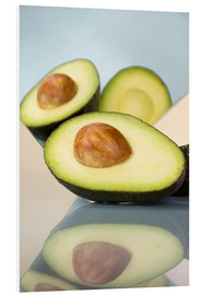 Foam board print  Mirrored avocado - Julia Bruch