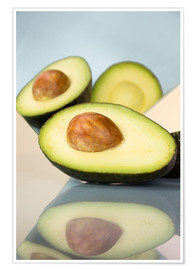 Poster  Mirrored avocado - Julia Bruch