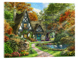 Acrylic print  the autumn cottage - Dominic Davison